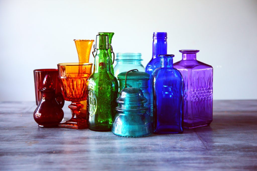 blessings, curses,and colored glass bottles