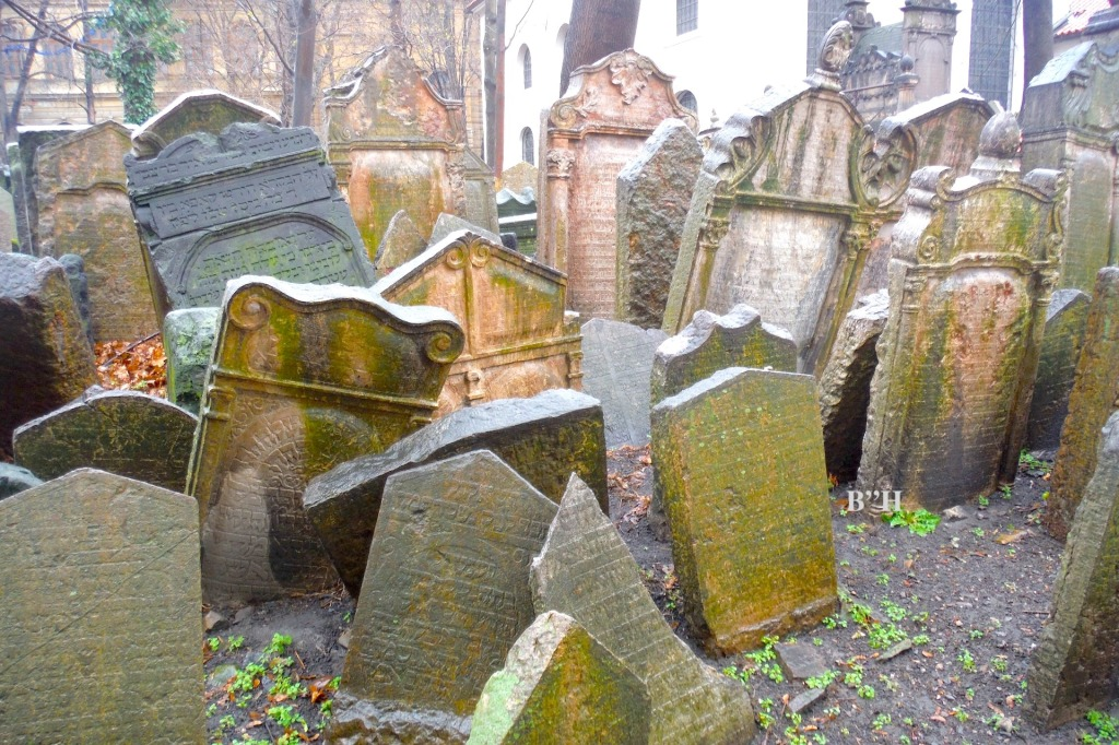 old headstones in a cemetery