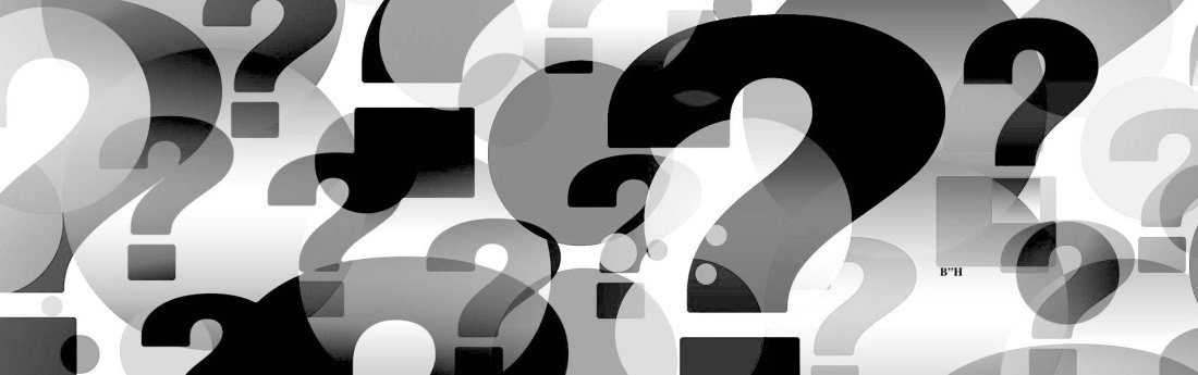 question marks in black and white
